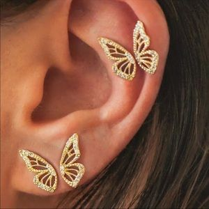 🆕 4 Pc Butterfly Stud Earring Set